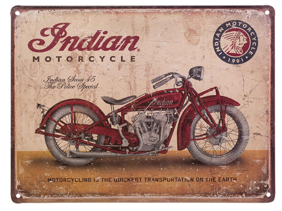 Vendita 2864422 CARTELLO METALLO - 258 | Legend Bikers * Concessionario Indian a Bergamo