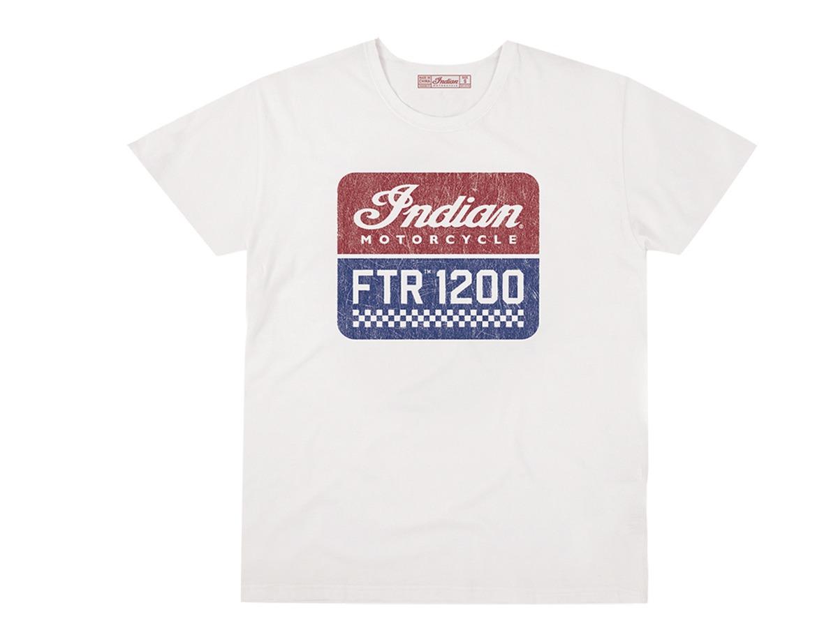Men's FTR1200 Logo T-Shirt, White - Indian Motorcycle - Legendbikers