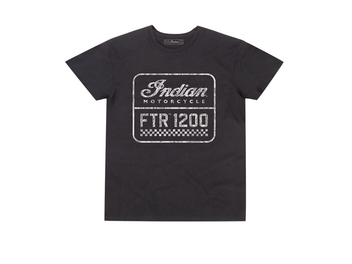Men's FTR1200 Logo T-Shirt, Black - Indian Motorcycle - Legendbikers