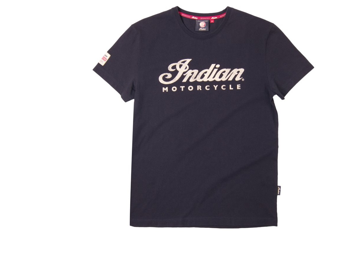 Men's Script Logo T-Shirt, Black - Indian Motorcycle - Legendbikers