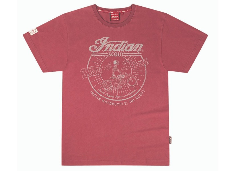 T-SHIRT UOMO ROSSA PORT INDIAN SCOUT