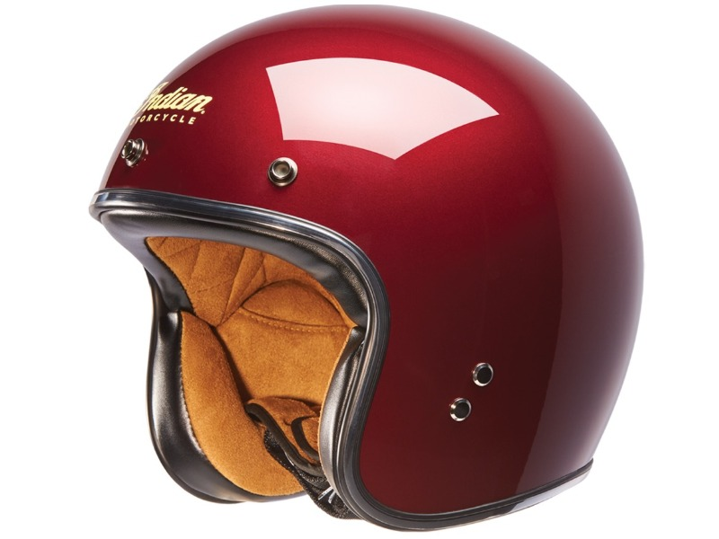 CASCO RETRO OPEN ROSSO INDIAN