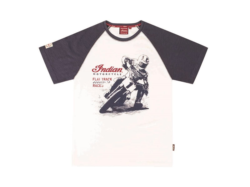 T-SHIRT UOMO FLAT TRACK RACER INDIAN