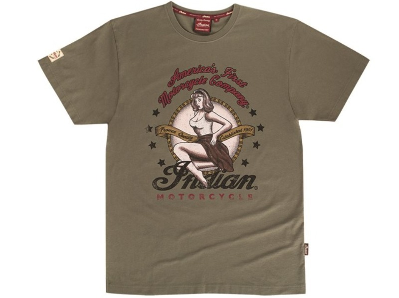 T-SHIRT UOMO OLIVA INDIAN