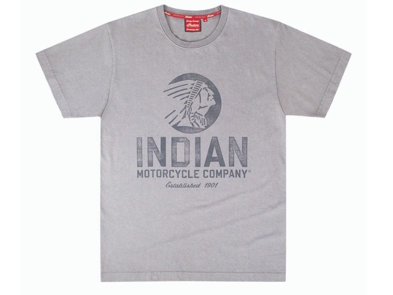 Legend Bikers Bergamo -T-SHIRT UOMO GRIGIA 2 INDIAN