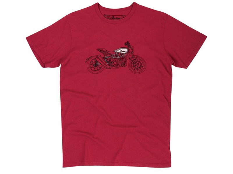 2868968 - Legend Bikers Bergamo - INDIAN T-SHIRT, RED 3