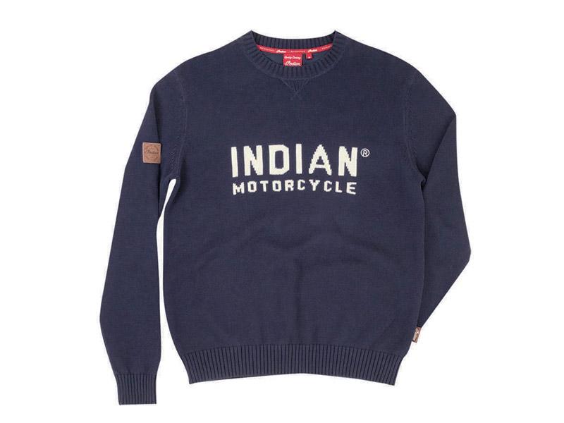 MAGLIONE UOMO BLU INDIAN