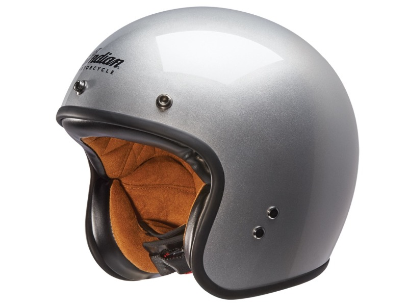 CASCO RETRO OPEN ARGENTO INDIAN